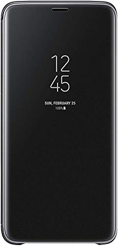 Official Genuine Samsung Clear View Cover Case for Samsung Galaxy S9+ / S9 Plus – Black (EF-ZG965CBEGWW)