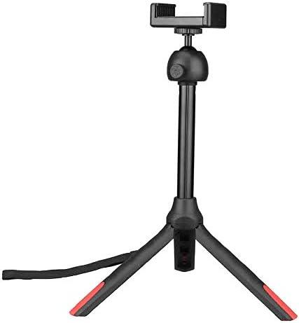 軽量トラベルセルフィースティック ライブIPhoneのAndroidの携帯電話用のBluetooth三脚自分撮りスティックポータブルリトラクタブル一脚リモートコントロール (色 : ブラック, サイズ : ワンサイズ)