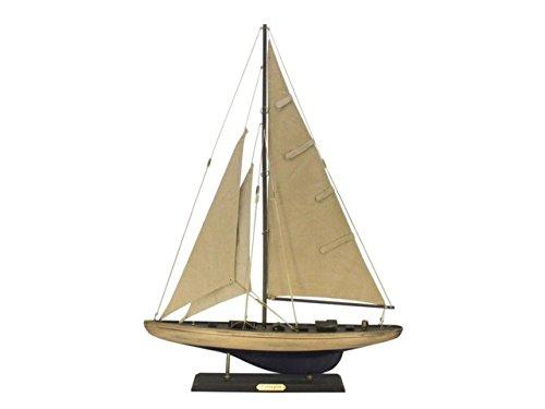 Hampton Nautical  Wooden Rustic Enterprise Sailing Yacht Limited 27