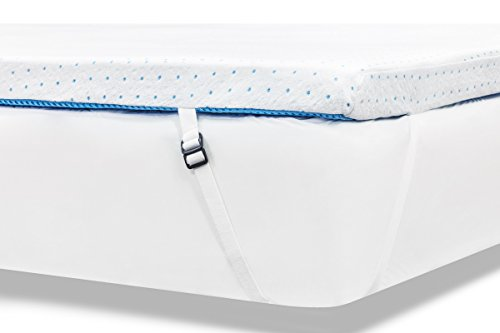 ViscoSoft 3.5 lbs. Density 3-Inch Gel Memory Foam Mattress Topper (Queen) – Includes Ultra Soft Removable Cover with Adjustable Straps