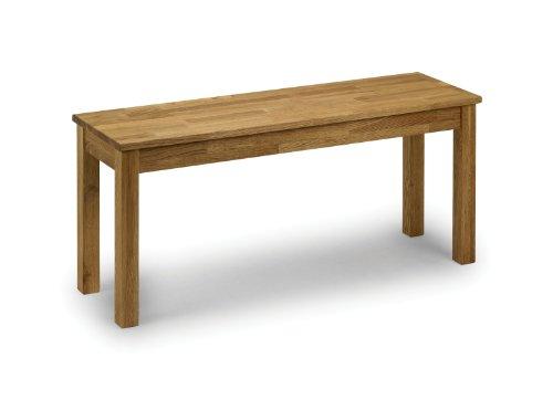 Julian Bowen Coxmoor Solid Oak Bench, Oak