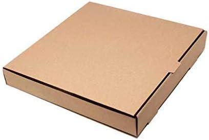 Compra We Can Source It Ltd - Liso Pizza Cajas, Takeaway Pizza Caja, Marrón, Calidad Fuerte, Estraza 12 en Amazon.es