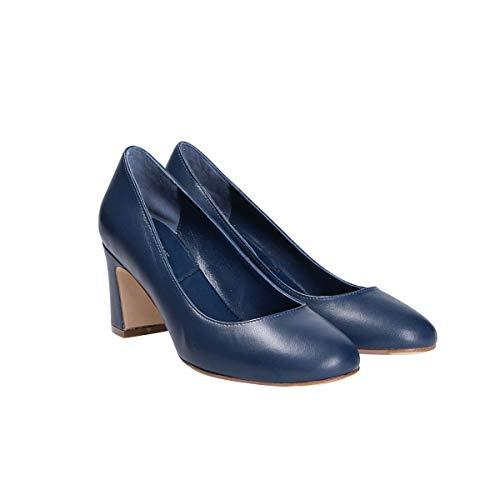 S5506blue Seller The Escarpins Femme Bleu Cuir PEx4qTwRx