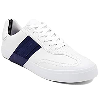 Nautica Men's Townsend Casual Lace-Up Shoe,Classic Low Top Loafer, Fashion Sneaker-White/Navy-13