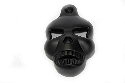 Cover Skull Horn (Black Skull Horn Cover For Harley Big Twins V-Rods Stock Cowbell Horns 1992-2013)