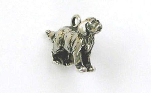 Sterling Silver 3-D Golden Retriever Charm - Jewelry Accessories Key Chain Bracelet Necklace Pendants
