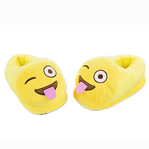 Home Slipper Adult Funny Emoji Unisex Shoes Plush Luobote Kids Slippers Out Tongue Family Cartoon AxRPwY5q