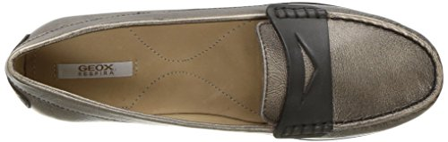 Geox Women's Elidia 5 Slip-on Loafer, Champagne/Anthracite, 35 EU/5 M US by Geox (Image #8)