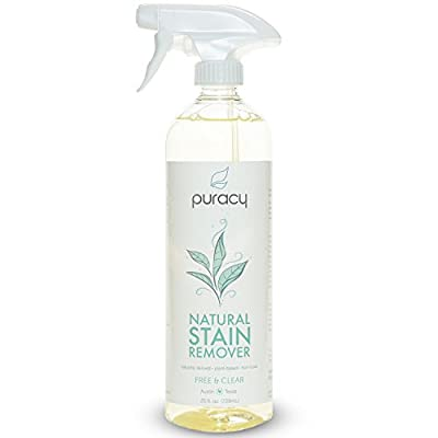 Puracy Natural Laundry Stain Remover, 6 Enzyme Formula Eliminates Spots and Odors, Free and Clear