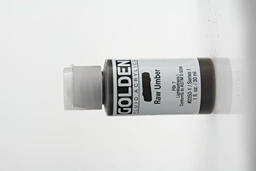 Golden Fluid Acrylic Paint 1 Ounce-Raw Umber