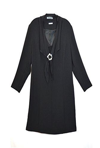 marina-rinaldi-womens-rhinestone-brooch-accent-shift-dress-sz-12-black-120789mm
