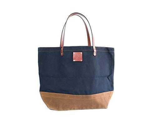 Waxed Canvas and Leather Craft Tote Bag - Weekend, Overnight, Travel bag - Large Tote for Men and Women from Sturdy Brothers