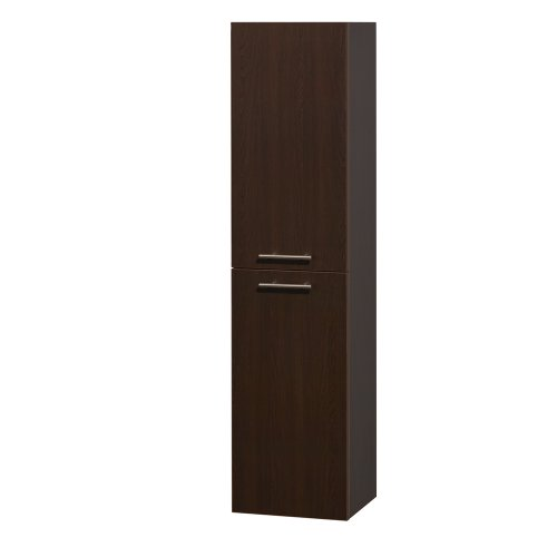 - Wyndham Collection Amare Wall-Mounted Bathroom Storage Cabinet in Espresso (Two-Door)
