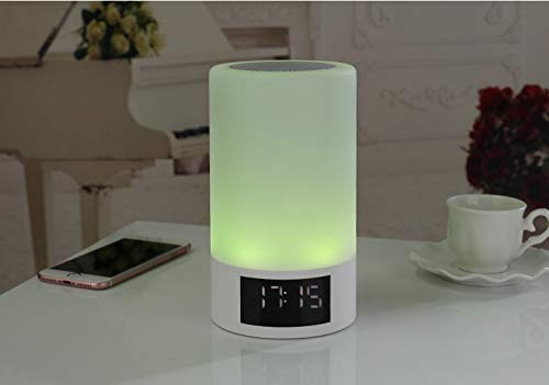 xingganglengyin Wireless Bluetooth Speaker Smart LED Bedside Light Touch Colorful Light with Alarm Clock Display Subwoofer by xingganglengyin (Image #7)