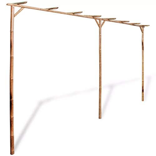 """Tidyard Pergola Bamboo Outdoor for Garden 151.6""""x15.7""""x80.7"""""""