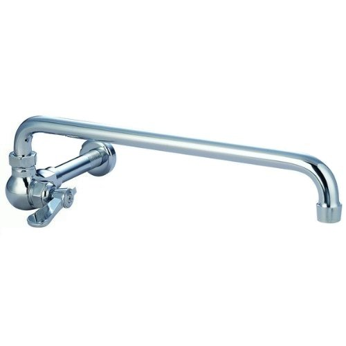 DuraSteel Commercial Duty Wall Mount Chinese Wok Range No Lead Faucet - 12