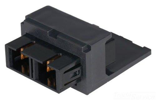 Panduit CMDBUSCBL Single-Mode Adapter Module with Phosphor Bronze Split Sleeve, Black