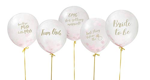Pack of 10 Clear Bachelorette Party Confetti Balloons - Funny Classy Balloons ()
