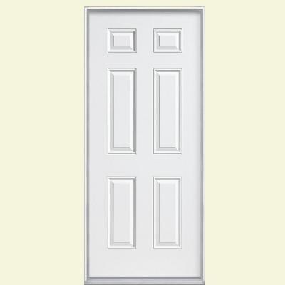 Amazon Masonite 6 Panel Primed Steel Entry Door With No