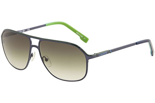 LACOSTE Sunglasses L139SB 424 Shiny Blue Aviator Mens - Lacoste Aviators