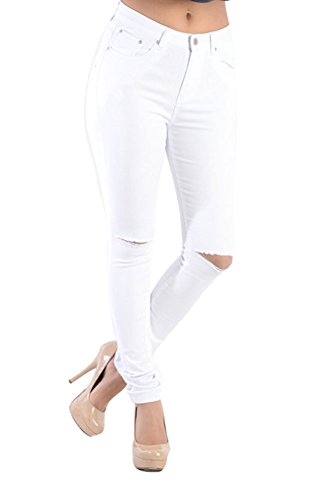 G Style Waisted Colored Ripped Skinny product image