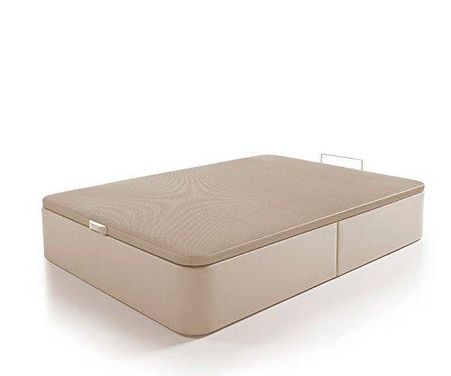Canapé de Polipiel Abatible de Gran Capacidad 150x200cm. Color Beige: Amazon.es: Hogar