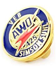 Simson MZ Fan opsteekpin embleem voor AWO 425 in blauw