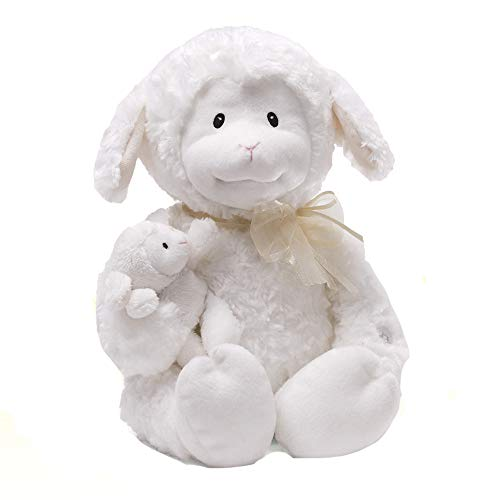(GUND Nursery Rhyme Time Lamb Animated Stuffed Animal Plush, White, 10