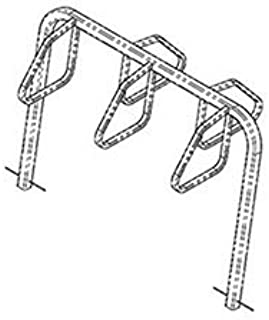 product image for City Bicycle Rack, Double Sided, Below Grade Mount, 5-Bike