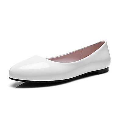 Cómodo y elegante soporte de zapatos de las mujeres pisos primavera verano otoño otros patente cuero oficina & carrera fiesta y noche Casual Flat Heel otros negro rosa rojo blanco negro