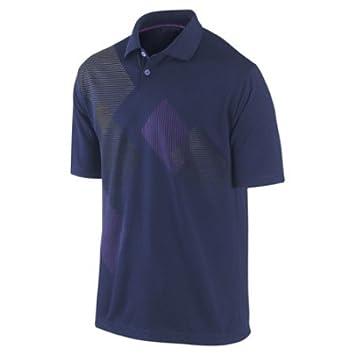 Nike Golf Polo de soldadura de impresión, binario azul/Marta verde/magenta/granito, grande: Amazon.es: Deportes y aire libre