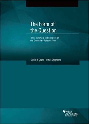 The form of the question coursebook daniel capra ethan greenberg the form of the question coursebook 1st edition fandeluxe Choice Image