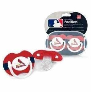 St. Louis Cardinals Pacifier Set - 2 pack by Baby - Louis St Shopping Mall