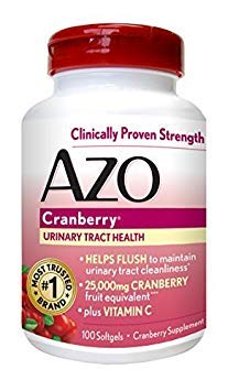 AZO Cranberry Urinary Tract Health, 25,000mg equivalent of cranberry fruit, S... - Buy Packs and SAVE (Pack of 2)