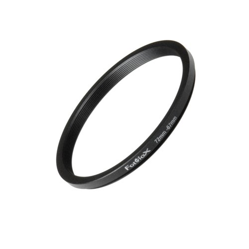 Fotodiox Metal Step Down Ring Filter Adapter, Anodized Black Aluminum 72mm-67mm, 72-67 mm