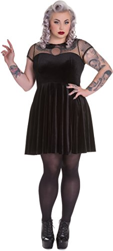 Velvet Doctor Größen Nina Spin Damen Schwarz Samtkleid Kleid Größe dwqqITP6