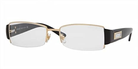 27b2899518 Image Unavailable. Image not available for. Colour  VERSACE Eyeglasses VE  1140 1002 Gold 51MM