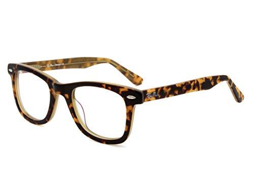 men women wayfarer Acetate glasses Non-Prescription eyewear (TORTOISE)