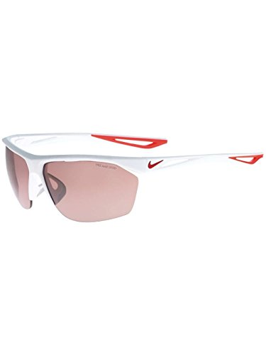 NIKE EV0946-106 Tailwind E Frame Speed Tint Lens Sunglasses, Matte White/University Red ()