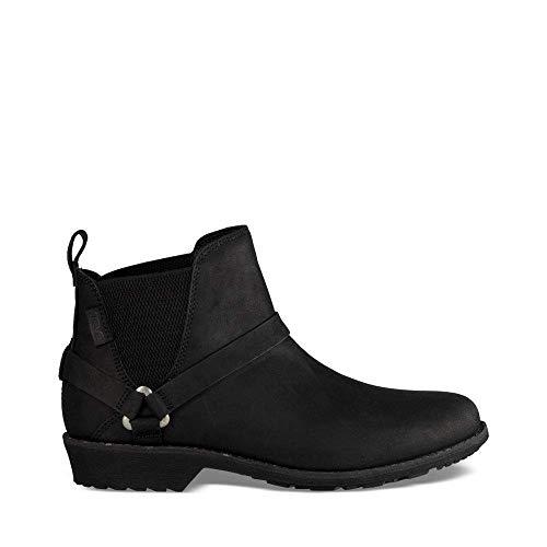 Teva Women's W DE LA Vina Dos Chelsea Boot, Black, 9.5 M - Lightweight Walking Boots
