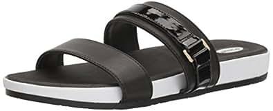 Dr. Scholl's Shoes Women's Natalia Slide Sandal, Black, 6 M US