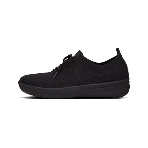 FitFlop All Sporty Sneakers F Women's Uberknit Black Metallic Trainers 4rqU4xwz
