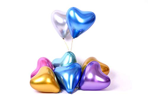 Green Heart Latex - 12 inch Metallic Heart Latex Balloon Valentine Day Green Balloon Wedding Room Decoration 12pcs/Pack
