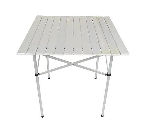 ISO TRADE Mesa DE Aluminio Plegable • Ideal para tu balcón, terraza #031