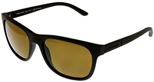 Giorgio Armani Sunglasses Men Havana Rubber Wayfarer Polarized AR 8037 530583 by GIORGIO ARMANI