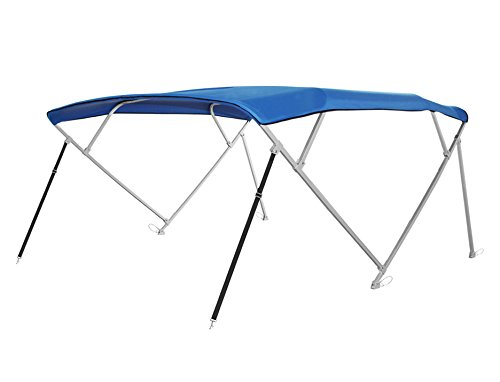 Komo Covers Square Tube Pontoon 4-Bow Boat Bimini Top Cover Canopy, 10'L x 91-96