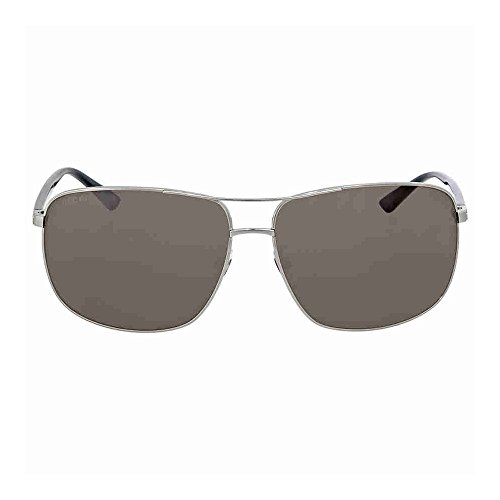 Gucci Men GG0065SK 66 Gunmetal/Grey Sunglasses - Gucci Sunglasses 135
