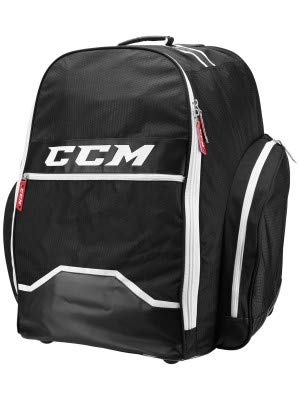 CCM Hockey 390 Wheeled Backpack Bag, Black 18 L x 26 H x 17 W