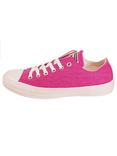 - Converse Unisex CTAS Court Fade Ox Canvas Active Fuschia White Trainers 8 W / 6 M US