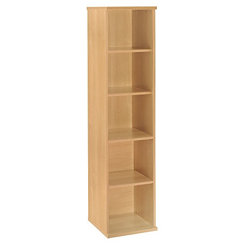 Light Bookcase Single - Bush Business Furniture Series C Video Game and DVD Storage Bookshelf in Light Oak